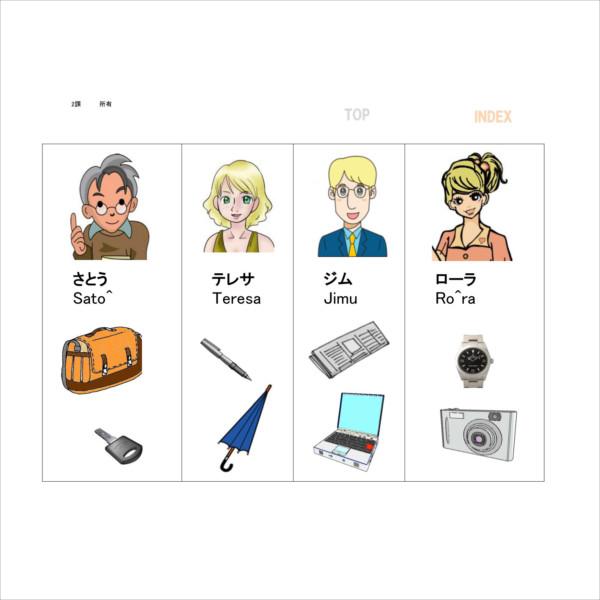 2課 A-4~6  〜の〜(所有)